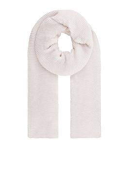 Accessorize   Glitter Pleated Scarf - Ivory
