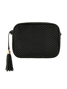 Accessorize   Aztec Textile Camera Bag - Black