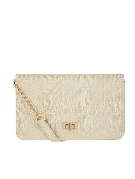 Accessorize Accessorize Sasha Quilted Cross Body Bag - Metallic Picture