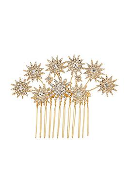 Accessorize   Shooting Star Statement Comb - Crystal