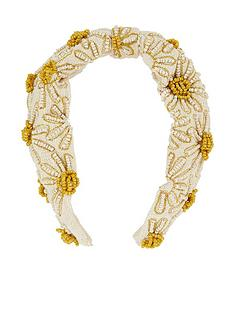 accessorize-daisy-embellished-wide-alice-band-multi