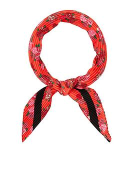 Accessorize   Mixed Floral Crinkle Square Scarf - Multi