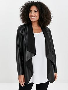 evans-pu-waterfall-jacket-black