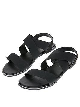 Accessorize   Elasticated Sandal - Black