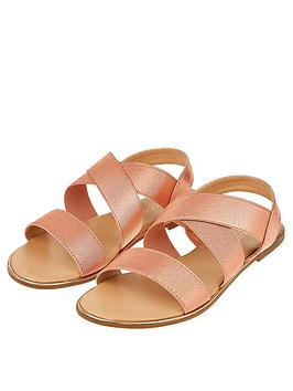 Accessorize   Elasticated Sandal - Rose Gold