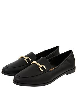 Accessorize   Metal Detail Loafer S - Black
