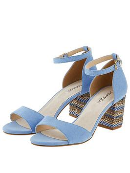 Monsoon Monsoon Otto Raffia Feature Heel Sandal - Blue Picture