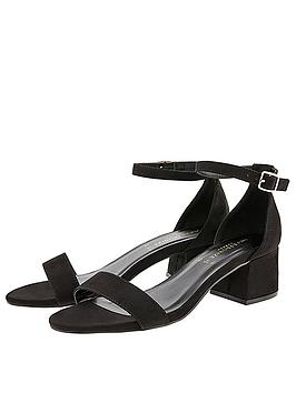 Accessorize   Block Heel Sandals - Black