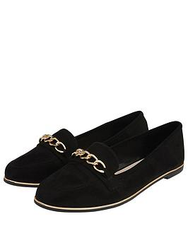 Accessorize   Chain Detail Loafers - Black