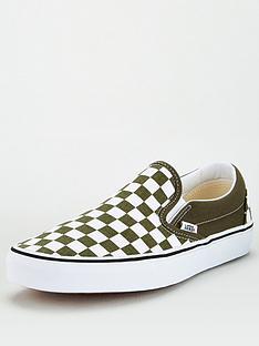 vans-ua-classic-slip-on-plimsollsnbsp--greenwhite
