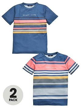V by Very V By Very Boys 2 Pack Stripe T-Shirts - Multi Picture