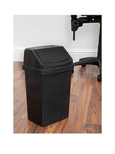wham-casa-8-litre-swing-bin-black