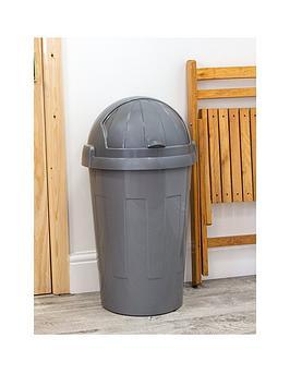 wham-casa-50-litre-bullet-bin-in-silver
