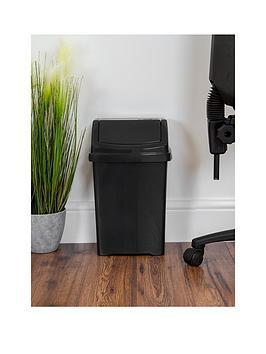 wham-casa-15-litre-swing-bin-black
