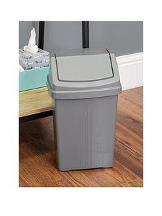 wham-casa-8-litre-swing-bin-silver