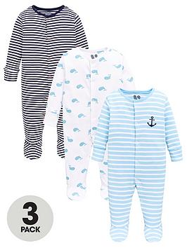 v-by-very-baby-boys-3-pack-nautical-sleepsuits-multi