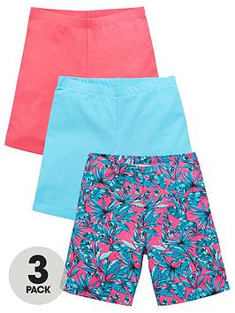 V by Very V By Very Girls 3 Pack Cycling Shorts - Multi Picture