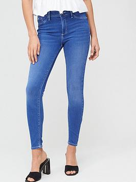 River Island River Island Mid Rise Molly Jegging - Blue Picture