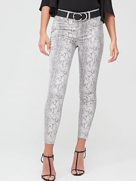 River Island River Island Snake Print Mid Rise Molly Jegging - Multi Picture