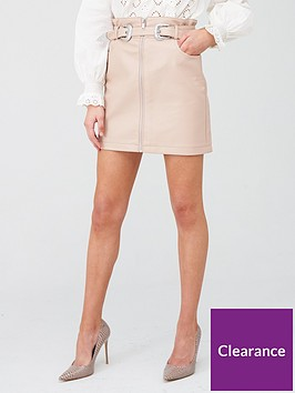 river-island-western-belt-pu-mini-skirt-pink