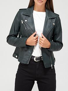 v-by-very-faux-leather-pu-jacket-dark-green