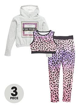 V by Very V By Very Girls Bright Animal 3 Piece Active Set - Multi Picture