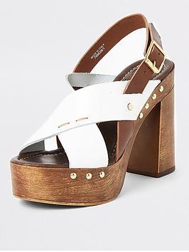 river-island-river-island-white-and-tan-mix-sandals--multi