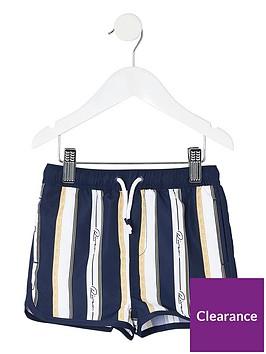 river-island-mini-boys-printed-stripe-swim-shorts-navy