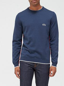 boss-riston-knitted-jumper-navy