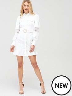river-island-cotton-belted-flip-hem-shirt-dress-white