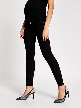 River Island River Island Maternity Over Bump Molly Jeggings - Black Picture