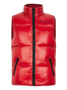 River Island River Island Boys Prolific Padded Gilet - Red Picture
