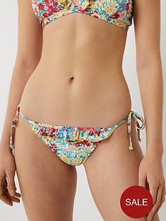 warehouse-floral-frill-bikini-bottoms-multi