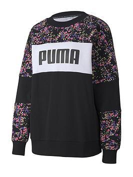 Puma Puma Graphic Crew Sweatshirt (Curve) - Black Picture