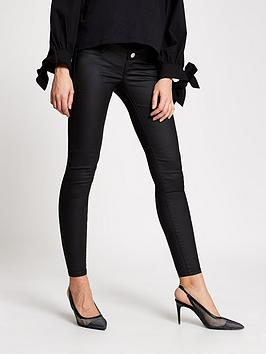 River Island River Island Maternity Over Bump Coated Molly Jeggings - Black Picture
