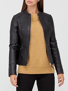 v-by-very-pintuck-pu-jacket-black