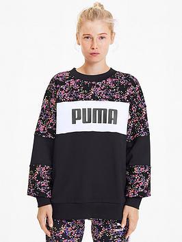 Puma Puma Graphic Crew Sweatshirt -  Black Picture