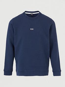 boss-weevo-centre-logo-sweatshirt-dark-blue