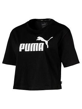 Puma Puma Ess+ Cropped Logo T-Shirt - Black Picture