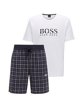 boss-boss-bodywear-relax-t-shirt-check-shorts-set