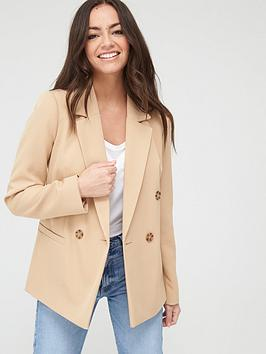 River Island River Island Double Breasted Blazer-Beige Picture