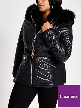 ri-plus-belted-padded-coat-black