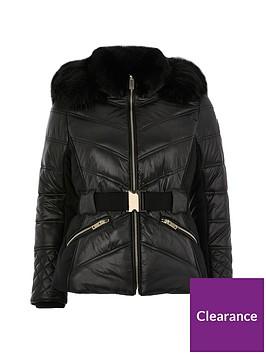 ri-petite-fitted-padded-coat-black