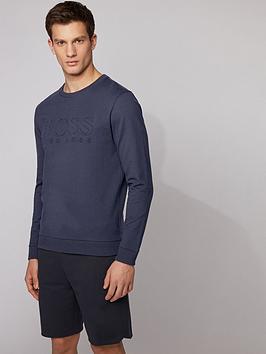boss-bodywear-heritage-embossed-sweatshirt-navy