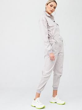 river-island-drawstring-waist-denim-boilersuit-grey