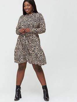 Oasis Curve Oasis Curve Paint Brush Smock Dress - Natural Picture
