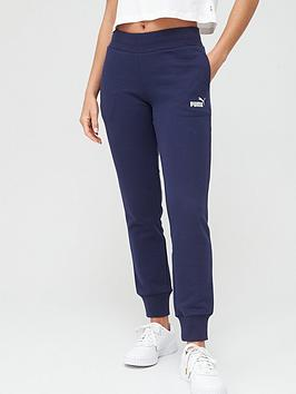 Puma Puma Essential Fleece Sweat Pants - Navy Picture