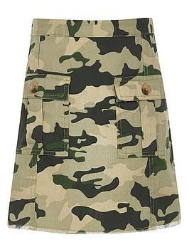 River Island River Island Girls Camo Aline Skirt-Khaki Picture