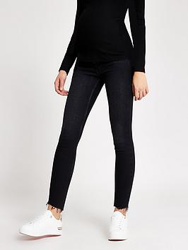 River Island River Island Maternity Over Bump Amelie Skinny Jeans - Black Picture