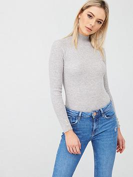 river-island-ribbed-turtle-neck-top-grey